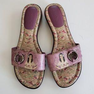 ICON wearable art portrait flip flop sandals